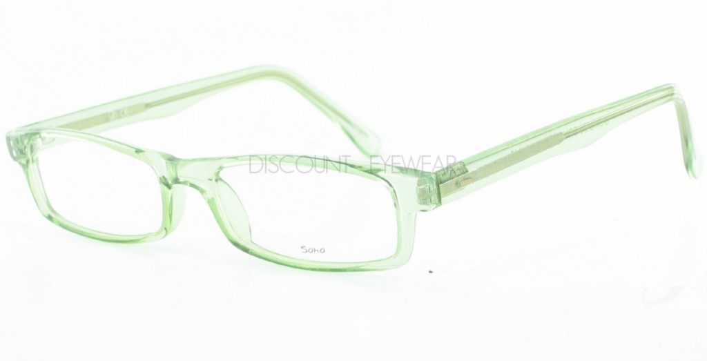 SOHO EYEWEAR 56 Square Eyeglass Frames Crystal Green