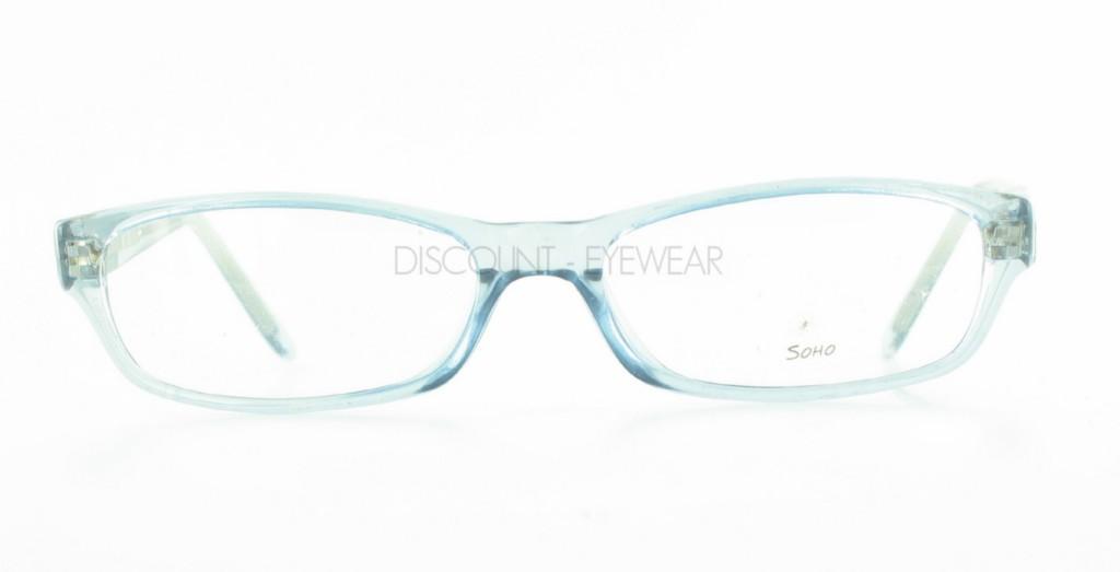 Mens Clear Plastic Eyeglass Frames : SOHO 58 Eyeglasses Clear Plastic Blue Frames WHOLESALE ...