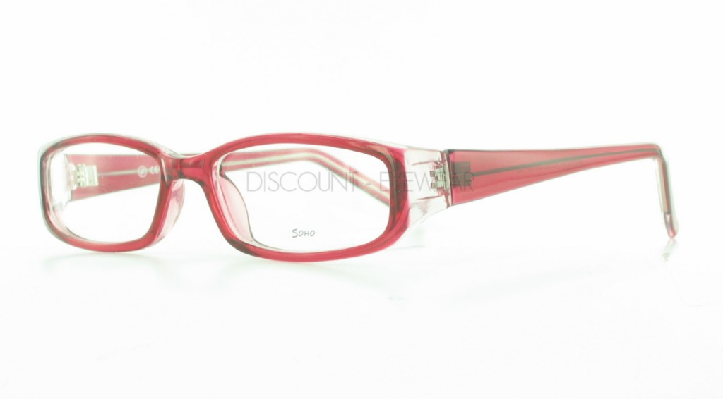 1501c5eb5e Soho 84 Stylish Plastic Eyeglasses Frames Red Clear on PopScreen