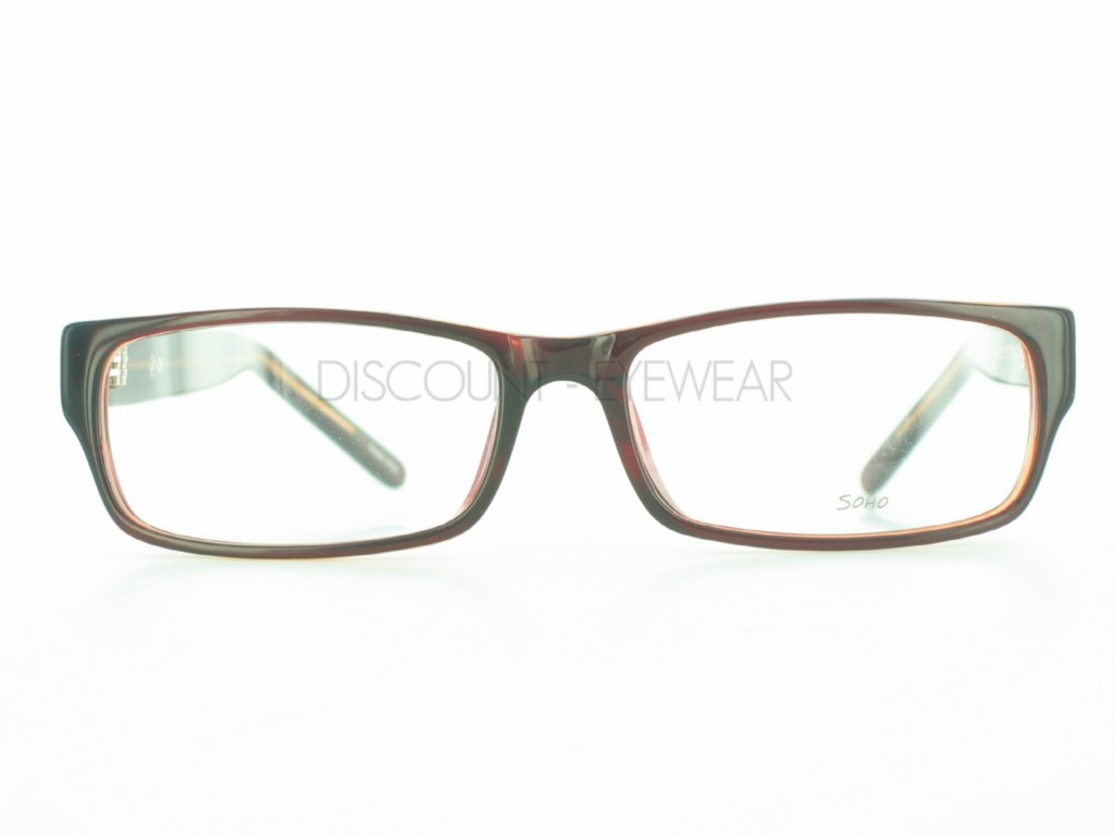 Big Plastic Frame Glasses : SOHO 85 EYEGLASSES Frame Plastic Modern Large Brown eBay
