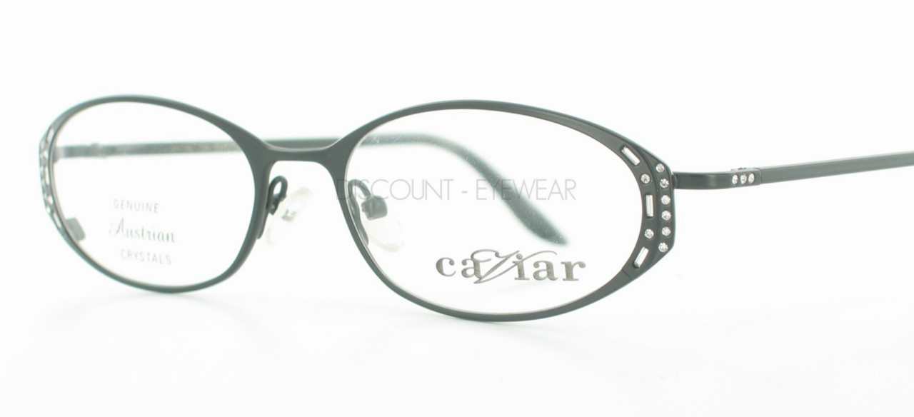 New CAVIAR 1740 BLACK EYEGLASSES Swarovski Crystals