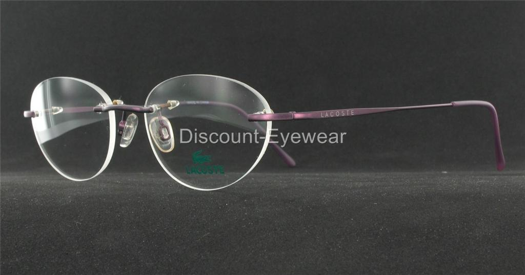 Rimless Glasses Drilling : New LACOSTE Womens Rimless EYEGLASSES Drill Mount 8024 eBay