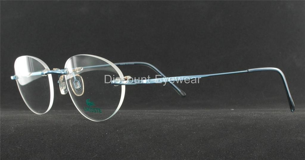 Rimless Glasses Drilling : New LACOSTE Rimless EYEGLASS FRAMES Drill Mount 8024