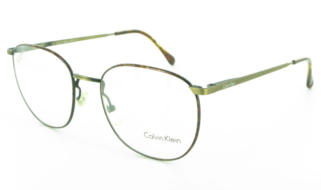 Calvin Klein CK Large Womens Metal Round Mens Eyeglass ...