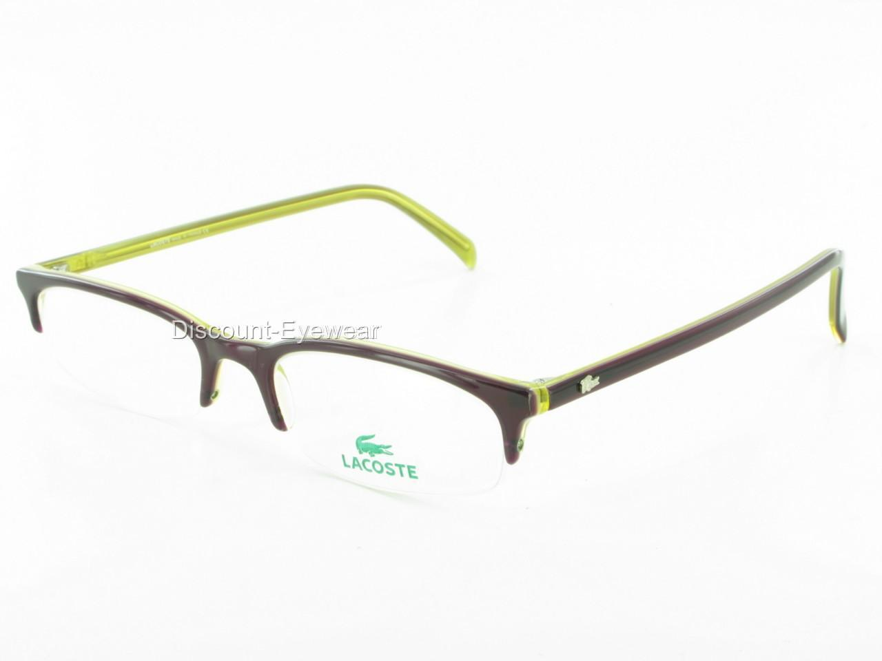 Stylish Designer Semi Rimless LACOSTE 4800 EYEGLASSES eBay
