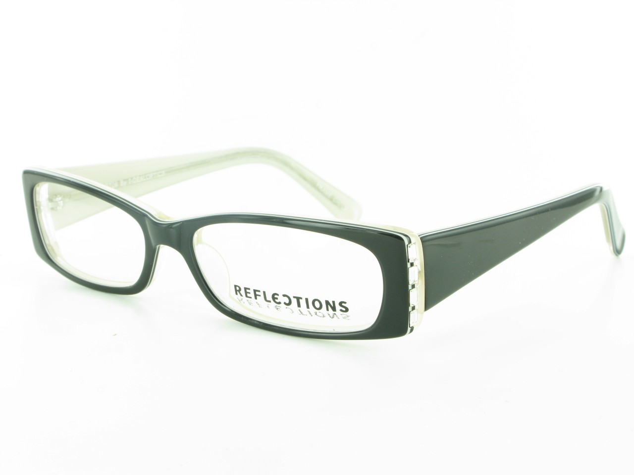 Ladies Plastic Eyeglass Frames : REFLECTIONS Classy Plastic Rhinestone Ladies EYEGLASS ...