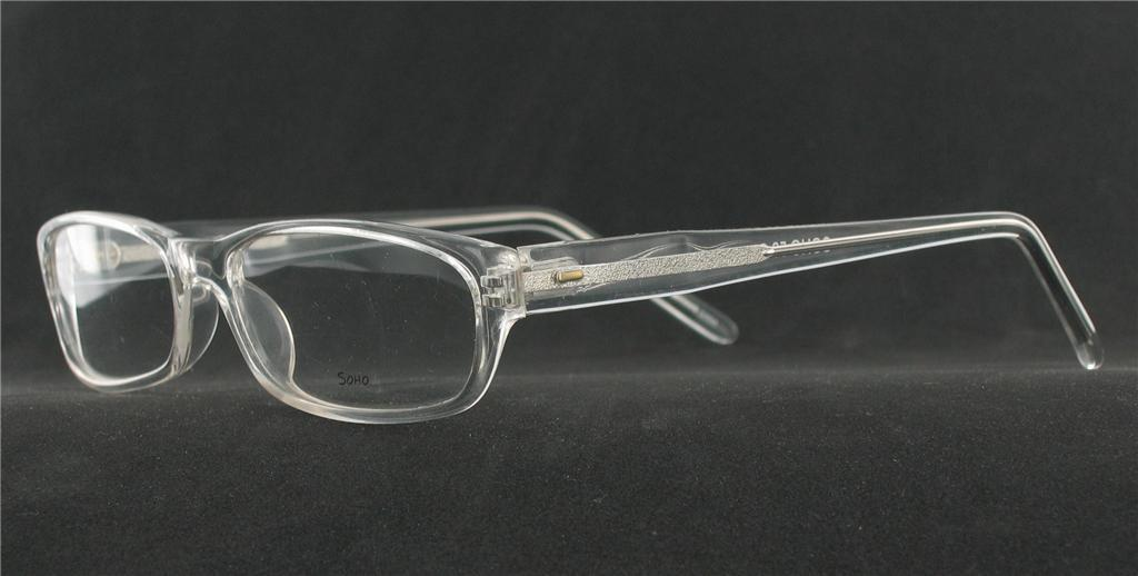 Eyeglass Frames Crystal Clear : SOHO EYEWEAR 58 Eyeglasses CRYSTAL CLEAR Plastic ...