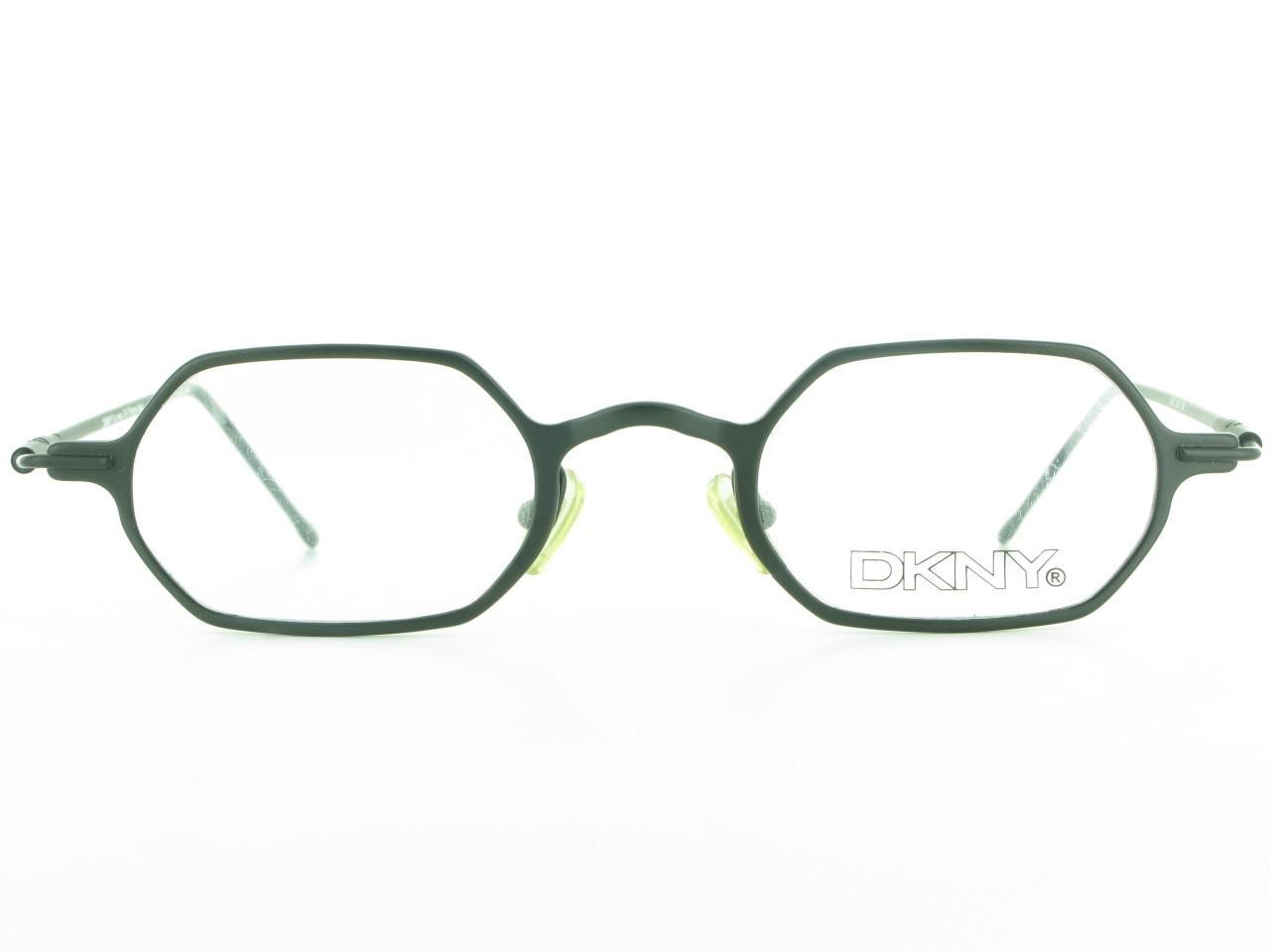 Square Designer Eyeglass Frames : DKNY Burney 366 Small Black Square Metal Womens Retro ...