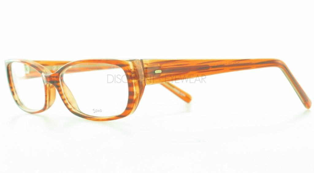 Eyeglass Frames Modern : SOHO EYEWEAR 77 Modern Funky Plastic Brown Stripe ...