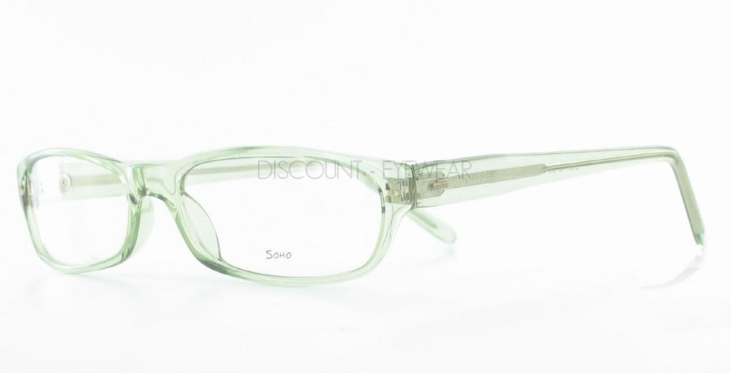 Green Eyeglass Frames Plastic : SOHO 58 Funky Plastic Mens Womens EYEGLASSES Clear Green ...