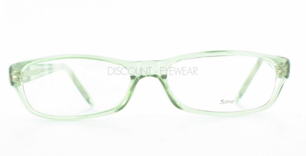 Mens Clear Plastic Eyeglass Frames : SOHO 58 Funky Plastic Mens Womens EYEGLASSES Clear Green ...
