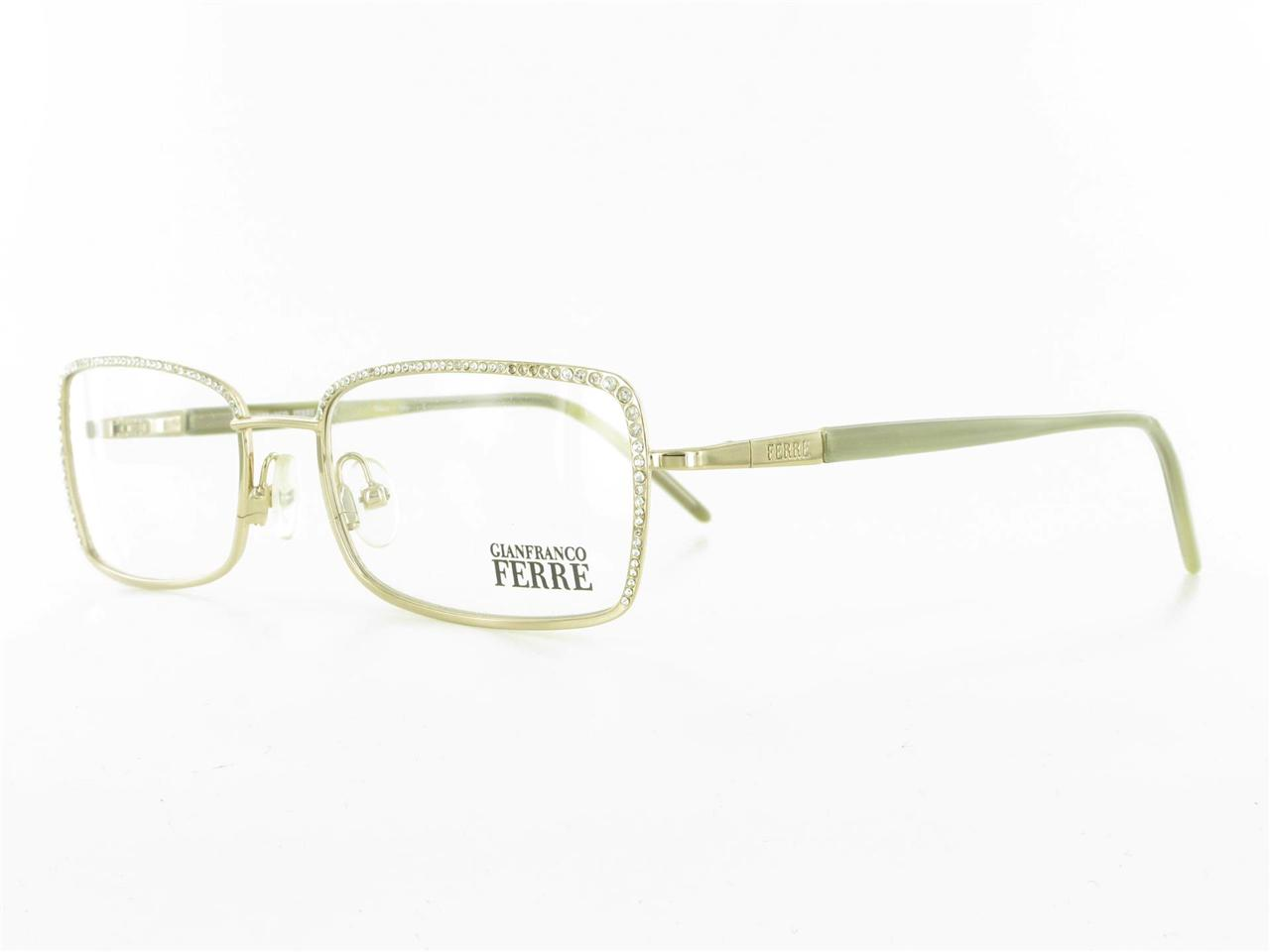 Eyeglasses Frames With Bling : BLING GFF Ferre EYEGLASS FRAME Rhinestone Gold Womens ...