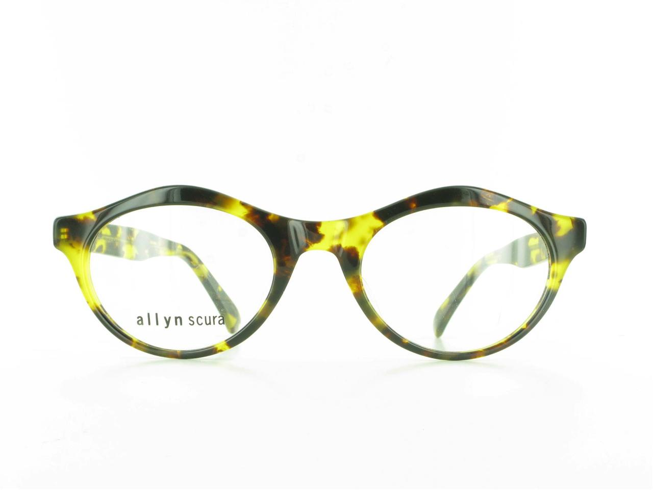 Vintage ALLYN SCURA O Jackie Tortoise Plastic Eyeglasses ...