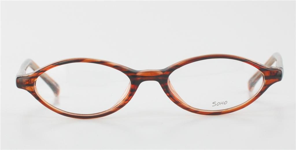 SOHO EYEWEAR 65 Brown Eyeglasses Small Frames Kids Retro ...