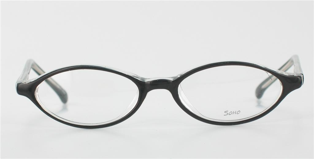 Eyeglasses Frames Small Faces : SOHO EYEWEAR 65 Black Eyeglasses Small Faces And Kids
