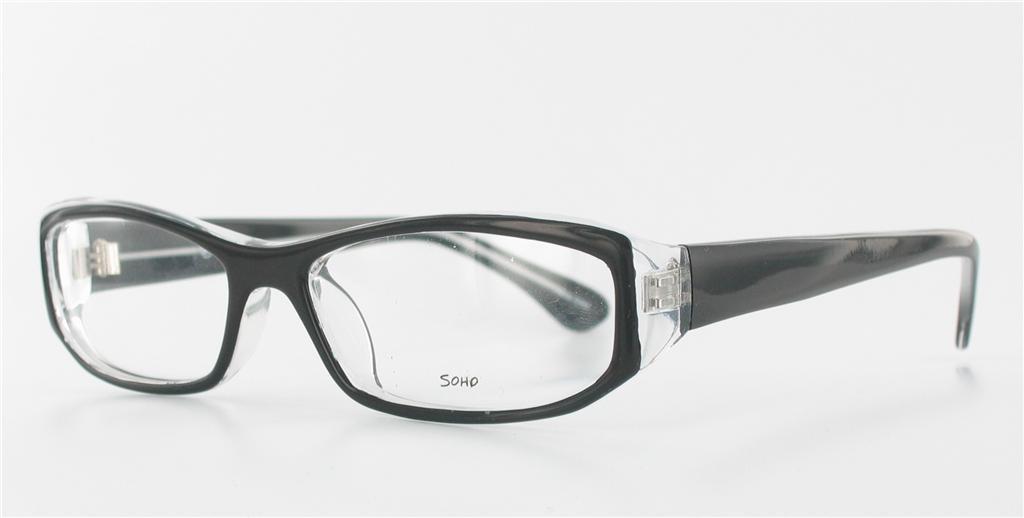 Soho 72 Eyeglass Frames Black Crystal Large EYEGLASSES