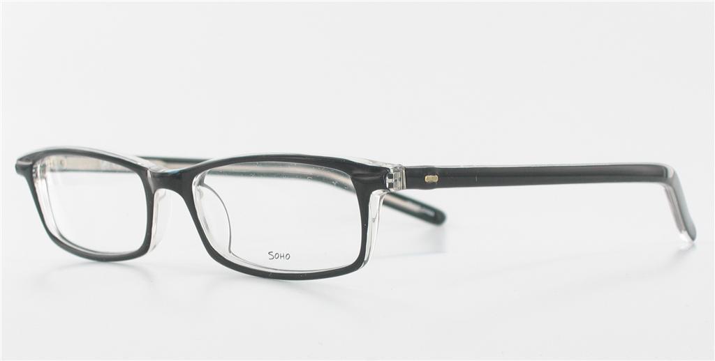 soho 45 rectangle eyeglasses rectangular black clear