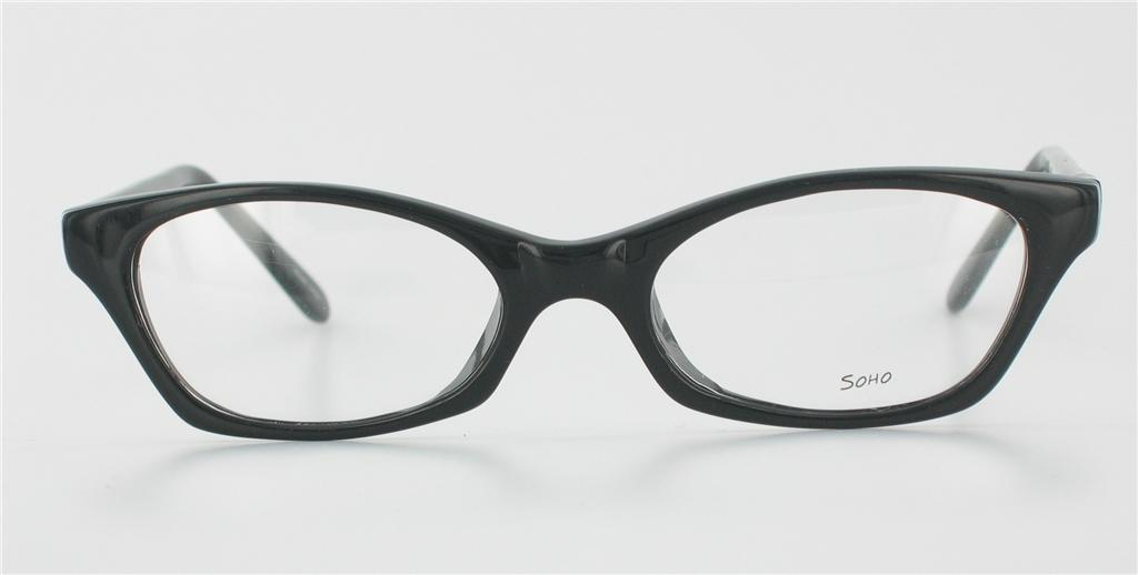 Eyeglass Frames Vintage Style : NEW SOHO 17 RETRO Eyeglass Frames Black VINTAGE Style