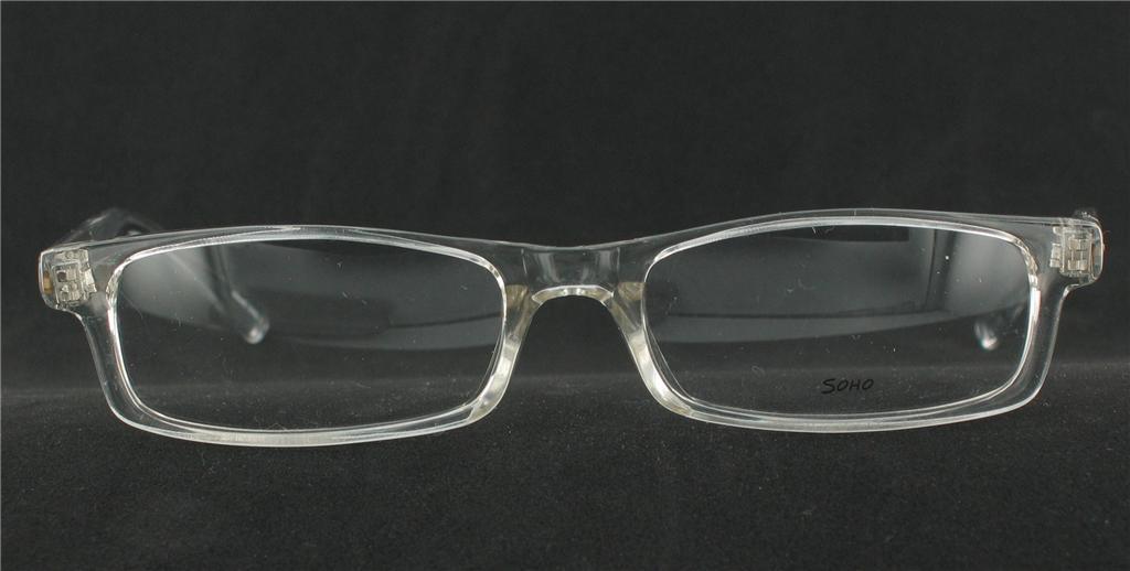 SOHO EYEWEAR 56 Eyeglasses CRYSTAL CLEAR Plastic ...