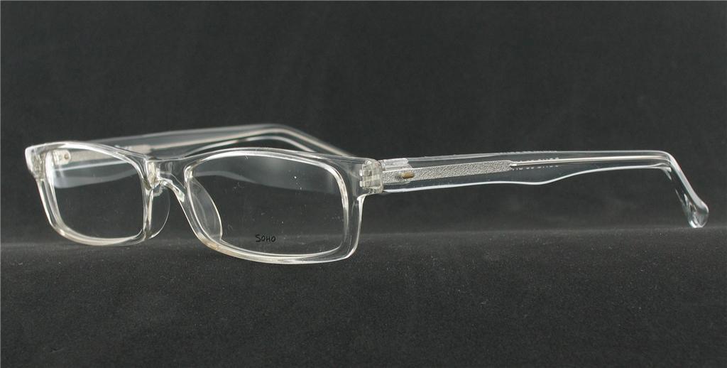 Eyeglass Frames Crystal Clear : SOHO EYEWEAR 56 Eyeglasses CRYSTAL CLEAR Plastic ...