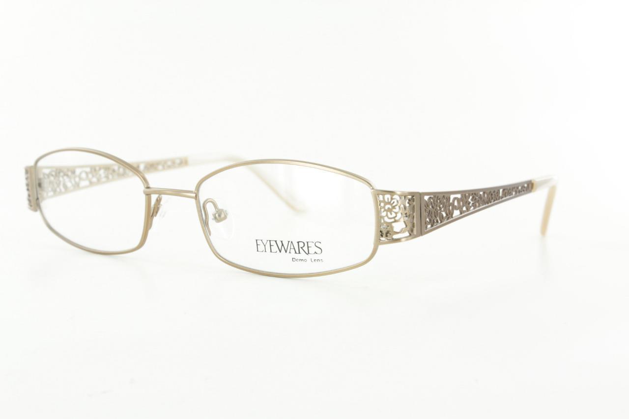 Unique Metal Eyeglass Frames : Eyewares Fancy Stylish Ladies Metal Eyeglasses Gold ...