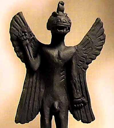 ANCIENT SUMERIAN TOMB DEMON PAZUZU History's Original Demon black stone statue