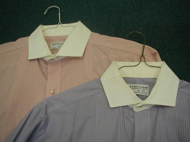 White Collar Pink Lavender Formal Dress Shirts S L 2 Tone