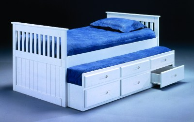 Twin  Sale Free Shipping on White Twin Size Trundle Bed    Free Shipping