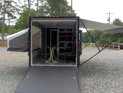 7x18 Camper Enclosed Motorcycle Cargo Trailer Toy Hauler A