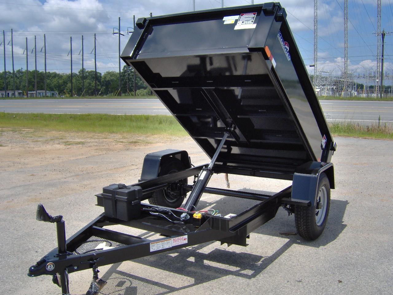 5x8 Single Axle Heavy Duty Hawke Dump Trailer 5 2k New
