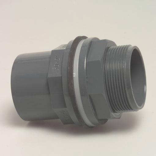 High quality pvc u bulkhead tank connector solvent weld