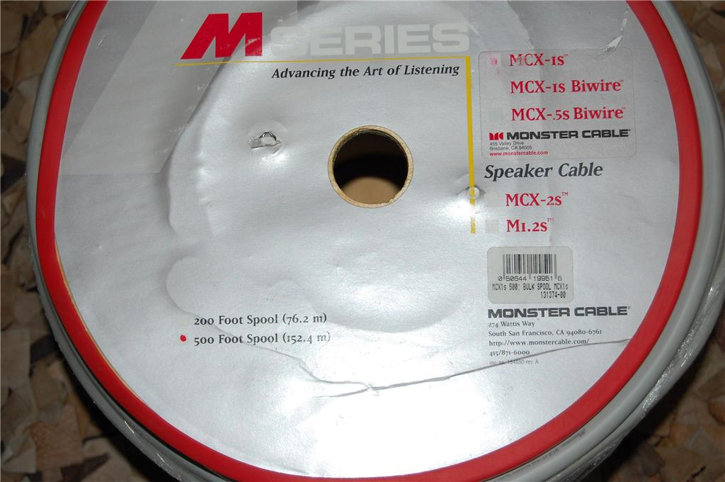 Monster Cable MSeries MCX-1S speaker cables (New)