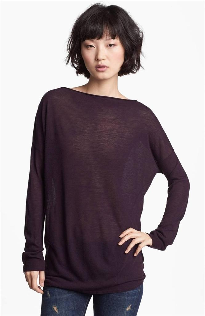 NWT-175-Vince-Twisted-Tunic-Wool-Dark-Plum-S-M-SOLD-OUT-2sizes