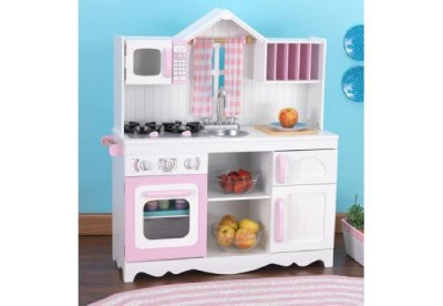 Details about KidKraft Modern Wooden Country Toy Kitchen Role Play New