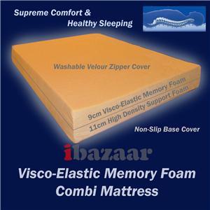 Visco Elastic Viscoelastic Memory Foam Mattress Queen Ebay