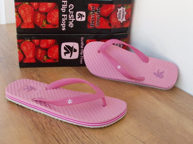 UK-4-CUSHE-REFLEX-STRAWBERRY-PINK-TOE-POST-FLIP-FLOP-BEACH-SANDAL