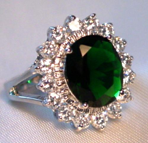 kate middleton princess diana ring replica emerald cz ebay