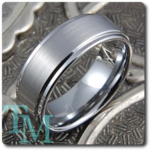 Mens Tungsten Rings Rare Matte Finish Wedding Band Ring EBay