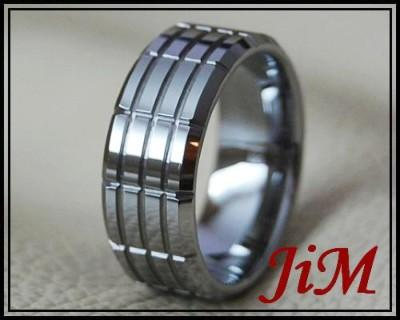 Tungsten Mens Ring Tire Wedding Band Hot Bridal Jewelry Titanium Color Size