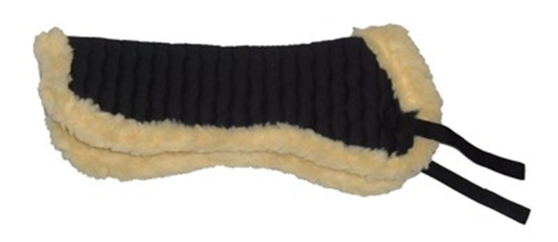 STUNNING-VALUE-Half-Saddle-Pad-Numnah-Faux-Sheepskin-Fleece-5-COLOURS