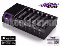 Efest LUC BLU6 intelligent 6 Bay LCD/OLED charger+Bluetooth+iOS Android APP