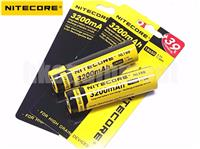 Nitecore 18650 3200 NL188 3.7v Protected Li-ion Rechargeable Battery x2