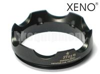 XENO ST03 Stainless Steel Tactical Lens Crenellated Flashlight Bezel