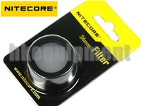 NiteCore 34mm Lens Cap Filter for MT25 MT26 EC25 Flashlight NFR34 NFG34 NFB34 NFD34
