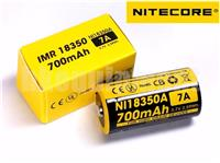 NITECORE NI18350A IMR18350 700mAh 7A Rechargeable Li-Mn Battery x2