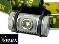 Spark SD52 Cree XM-L2 T6 Floody Headlight Headlamp Magnet+Clip