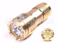 Blackwater SR71 Brass Ti 3x CREE XP-G2 1000lm USB Rechargeable LED Flashlight
