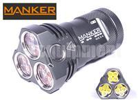MANKER MK34 12x LED 3x 18650 Flashlight