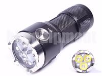 Blackwater SR71 Aluminum 3x CREE XP-G2 1000lm USB Rechargeable LED Flashlight