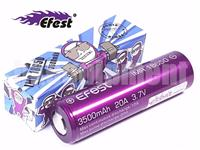 Efest IMR18650 3500 Li-Mn 18650 20A Flat Top Rechargeable Battery x2 ORIGINAL